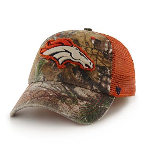 Fit Camo (NFL Denver Broncos '47 Huntsman Closer Camo Mesh Stretch Fit Hat, One Size, Realtree Camouflage)