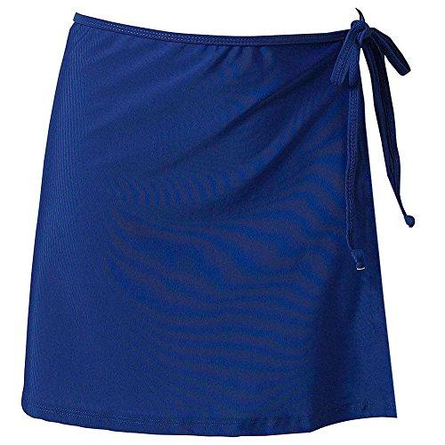 Skirts Wrap Style Dress - LD DRESS Ideal UV Wrap Short Skirt, Swimwear Cover up Beachwear Mini Skirt.(SJJ2) (XL, Royal Blue)