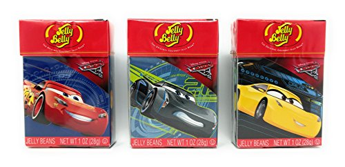 Disney Cars 3 - Jelly Belly Beans - 3 Pack Set