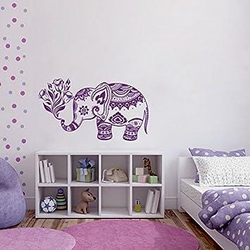 Amazoncom Wall Decals Vinyl Sticker Elephant Flowers Indian - Nursery wall decals elephant