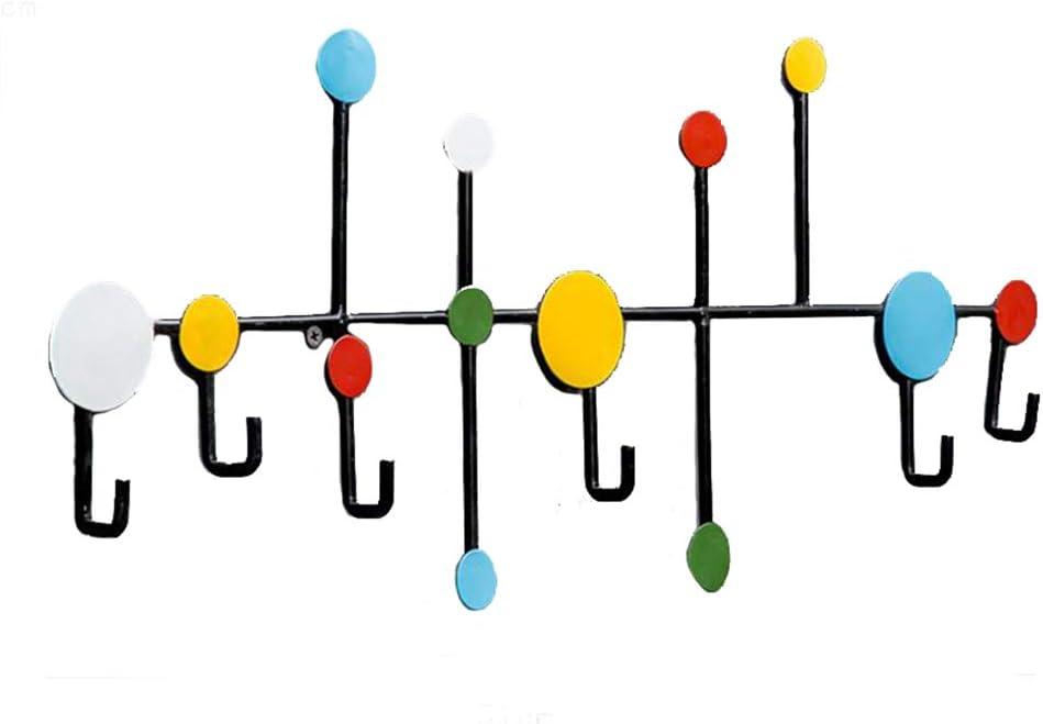 Pat/ères Portemanteaux Porte-manteau Mural Crochets De Mur Porte Crochets Entr/ée De Cuisine De Stockage Dart De Fer R/étro Creative GAOFENG Couleur : Multicolore