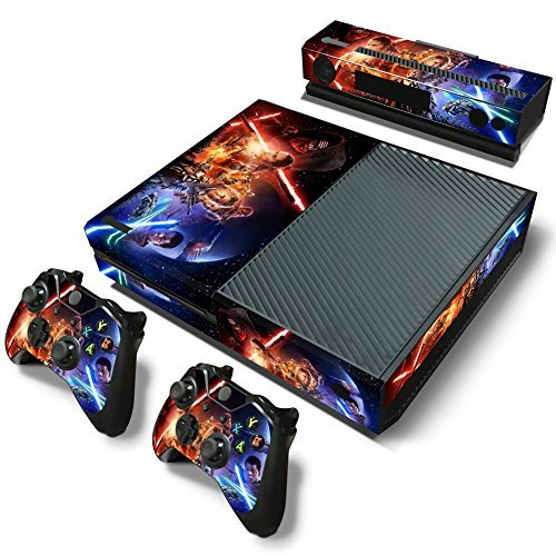 FreeSticker Designer Skin Game Console System plus 2 Controller Decal Vinyl Protective Covers Stickers f MICROSOFT XBOX ONE STAR WARS DARTH VADER AND COMPANY