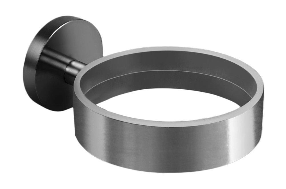 Ambrosya® | Exclusive hairdryer holder made of stainless steel | Bathroom Hairdryer Hair Dryer Holder Toilet (Stainless Steel (Brushed))