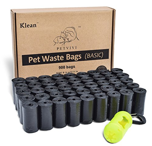 Klean (R) Basic - Poo Bags With Bag Dispenser | Leash Connector (Dog Poo Bags)