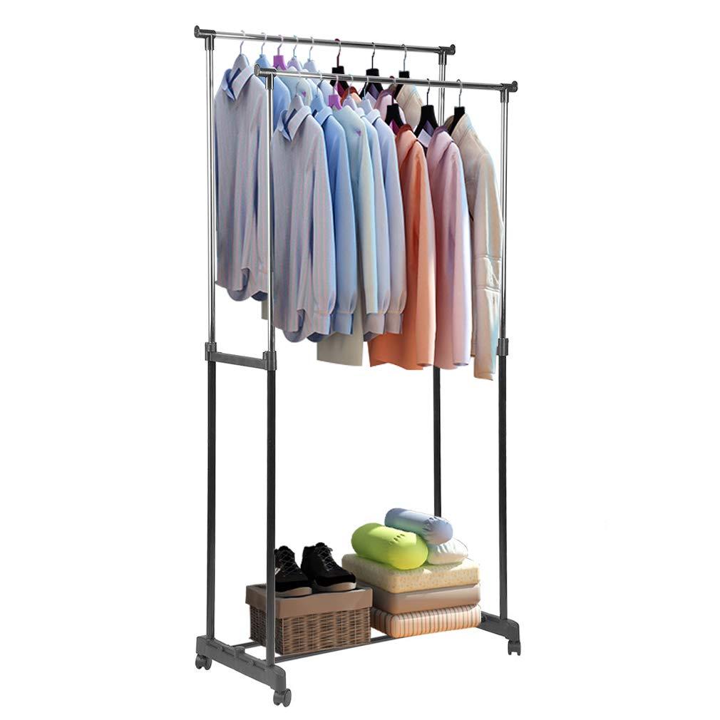 iookme h double rail clothes rack