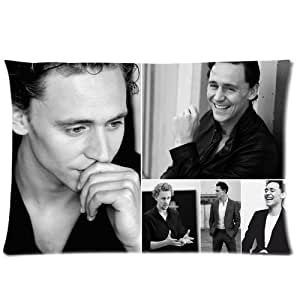 Generic Personalized Britain Actor Tom Hiddleston White & Black Pattern Sold By Too Amazing Roomy Zippered Pillowcase 30x20 inches (One Side)