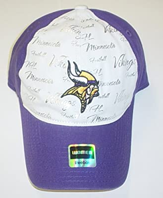 NFL Women's Fan Gear Slouch Adjustable Hat - EQ59W, Minnesota Vikings, One Size Fits All from Reebok