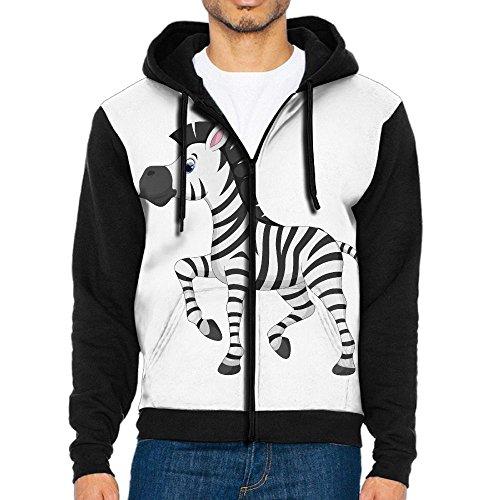 NavyLife Men's Zebra Cartoon Athletic Pocket Hoodie Jackets Full Zip Long Sleeve Cozy Sweatshirt Midweight - Ford Chapel Hills