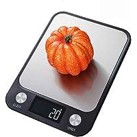E T EASYTAO Báscula de Cocina de 22lb/10kg Acero Inoxidable, Balanza Digital Ultra Delgada de Alimentos, Pantalla LCD y…
