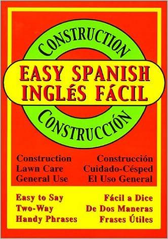 Vapaa lataus kirjoja google Easy Spanish for Construction (Spanish Edition) MOBI