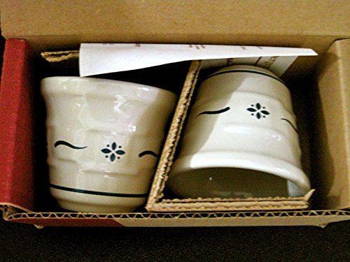 Longaberger Pottery Votive Cups (NEW IN BOX) (Classic Blue Pattern)