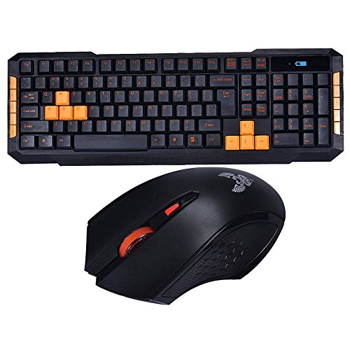 2.4GHz Wireless Gaming Keyboard and Mini Mouse Kit For Computer Multimedia Gamer
