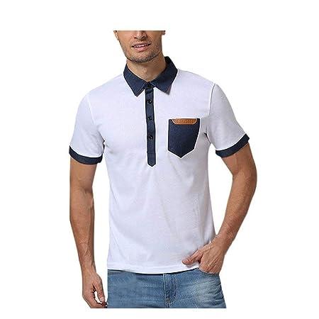 Qiusa Polo Deportivo para Hombre, Camisetas de Manga Corta ...