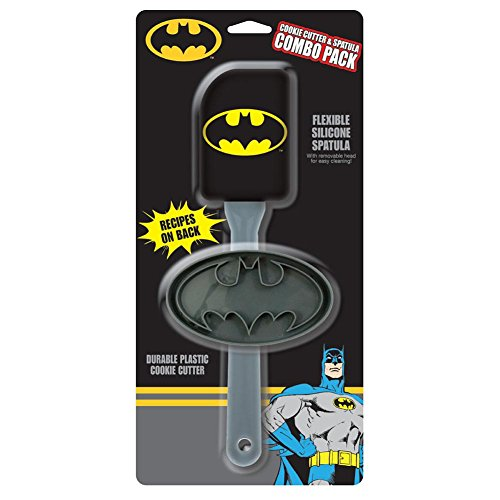 Batman Flexible Silicone Spatula With Durable Plastic Cookie Cutter