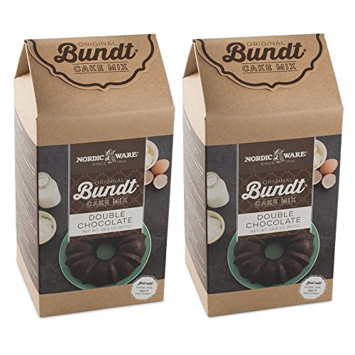 Nordic Ware Double Chocolate Bundt Cake Mix, Set of 2 (Ware Nordic Chocolate Cake)