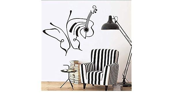 jiushizq Dibujo Lineal Arte Creativo Mariposas Y Guita ...