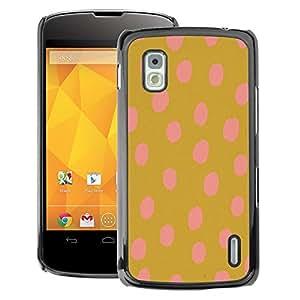 A-type Arte & diseño plástico duro Fundas Cover Cubre Hard Case Cover para LG Nexus 4 E960 (Gold Brown Vibrant Animal Pattern)