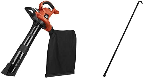 BLACK DECKER 3-in-1 Electric Leaf Blower with Quick Connect Gutter Cleaner Attachment BV6600 BZOBL50