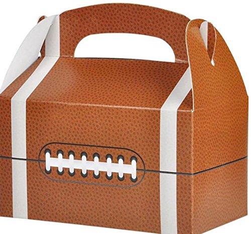 RINCO 12 Birthday Party Team Football Treat Favor Boxes Sports