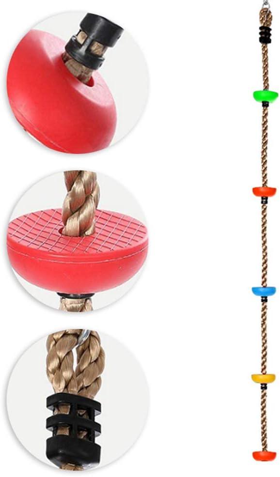 fancyqube Kinder Kletterseil mit Sicherheitshaken und Plattform Schaukel Set f/ür Outdoor Baum Hinterhof Spielplatz Kletterger/üste Zuf/ällige Farben