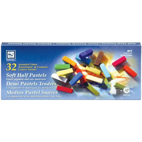 Loew-Cornell Soft Half Pastels, 32-Count