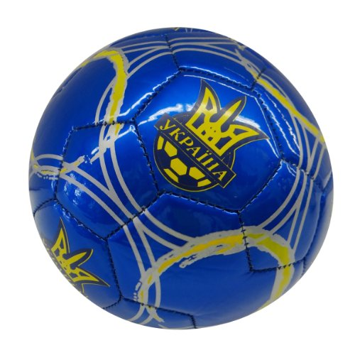 (Ukraine Blue With Stripes Country Flag FIFA World Cup Soccer Ball Size 2. New)