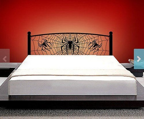 Headboard Vinyl Wall Decal full twin queen Size Wall Decals Spiderman Webbed Spide spider Web Sticker Home Wall Stcker Bedroom Romovable