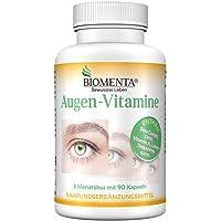 BIOMENTA OCCHIO VITAMINES | con BETA-CAROTENE + LUTEINA + ZEAXANTINA + DHA OMEGA 3 + VITAMINE A + C + Vitamine B2 + ZINCO | 90 Capsule | 3 Mese