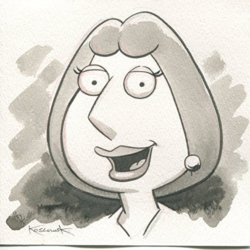 Family Guy Lois OOAK Original Hand Inked Illustration Drawing Signed COA pj from PJ's Collectibles