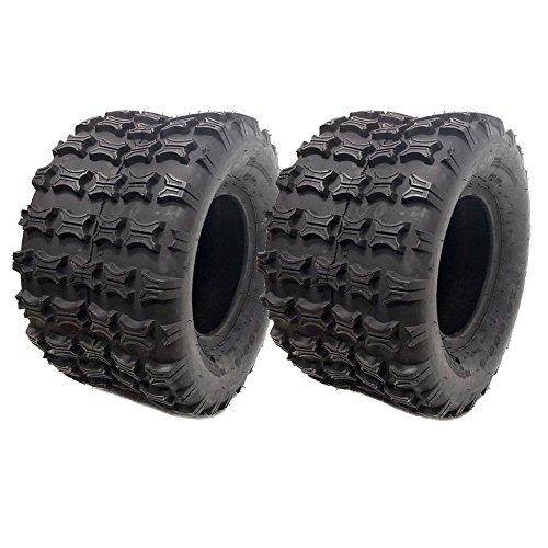 SET OF TWO: Tubeless Type Tires 18x9.5-8 (P73), 4 Ply Lawn Mower Garden Tractor - Turf Grip Tread For Cheap