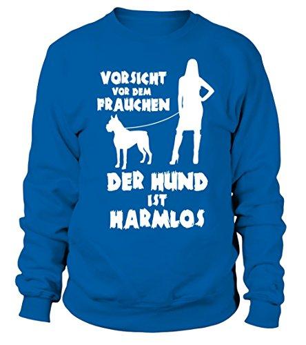 IchLiebeHunde.com - Sudadera con capucha - para mujer azul real XXXL