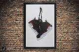 Air Jordan 6 (Six) Illustration, Vintage Hanging Kicks - Sneaker Wall Art: 11' x 14', 12' x 18', 13' x 19', 18' x 24', 24' x 36' Giclee