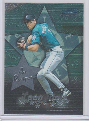 2000 Bowman Chrome Baseball - Alex Rodriguez 2000 Bowman Chrome Baseball Card Insert Teen Idols Mariners