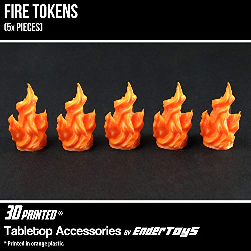 Fire Token, Terrain Scenery for Tabletop 28mm Miniatures Wargame, 3D Printed and Paintable, EnderToys