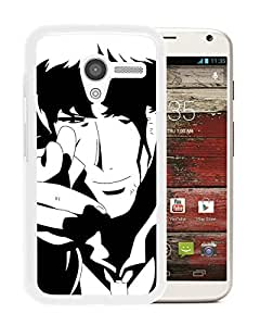 Fashionable And Unique Designed Cover Case With Cowboy Bebop White For Motorola Moto X Phone Case