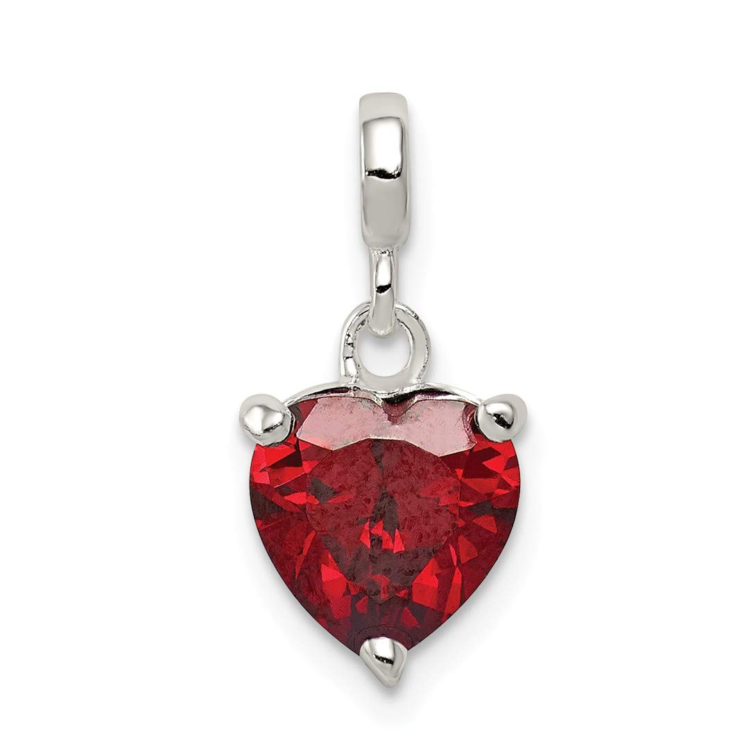 ICE CARATS 925 Sterling Silver Dark Red Cubic Zirconia Cz Heart Enhancer Necklace Pendant Charm Love Fine Jewelry Ideal Gifts For Women Gift Set From Heart