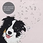 "Perfect Appearance Border Collie Shower Curtain 7-12 Grommet Holes Waterproof Thick Bathroom Plastic Shower Curtains 55.1"""" W X 71.1"""" H No Chemical Odor Rust Proof Grommets 10"