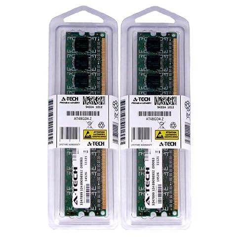4GB kit (2GBx2) DDR2 PC2-5300 DESKTOP Memory Modules (240-pin DIMM, 667MHz) Genuine A-Tech Brand (4 Gb Ddr2 Sdram 667)