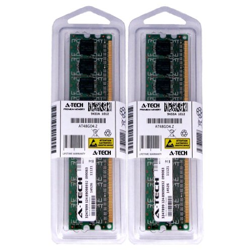 2GB kit (1GBx2) DDR2 PC2-4200 DESKTOP Memory Modules (240-pin DIMM, 533MHz) Genuine A-Tech Brand
