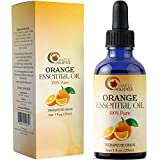 Sweet Orange Essential Oil for Diffuser Aromatherapy – Natural Spa Skin Care and Hair Care for Men and Women – Therapeutic Grade Cold Pressed Pure Orange Oil Extract – Citrus Mood and Immune Booster