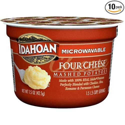 Idahoan Four Cheese Mashed Potatoes Cup, 1.5 Ounce - 10 per case.