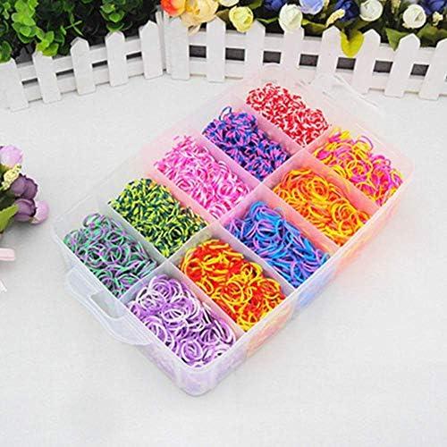 ONECK Caja Pulseras Gomas Bandas de Silicona Para Hacer Pulseras De Colores Loom Kit para Pulseras(15000 Loom Bandas): Amazon.es: Hogar