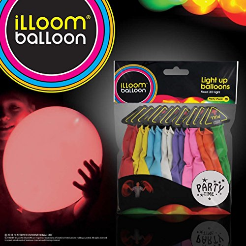 Light Up Beach Ball (LED Light up Balloons 15 Mixed Color Party)