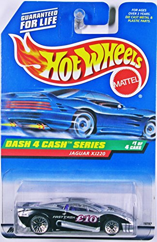 Hot Wheels Jaguar Xj220 #721 1998 Dash 4 Cash Series #1 with Saw (721 Series)