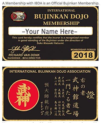 Ninjutsu Black Belt Courses Bujinkan Official Annual Member Card