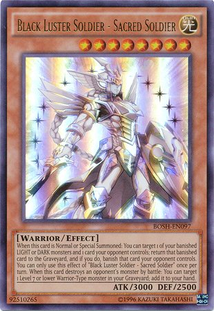Yu-Gi-Oh! - Black Luster Soldier - Sacred Soldier (BOSH-EN097) - Breakers of Shadow - Unlimited Edition - Ultra Rare