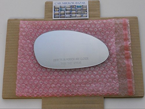 HEATED Mirror Glass (Non-Blue) with BACKING PLATE for BMW 1 3 Series M3 Z4 Passenger Side View Right RH (Mirror M3 Bmw)