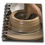 3dRose db_86881_3 Nicaragua, Catarina Pottery Wheel and Clay SA14 JME0128 John and Lisa Merrill Mini Notepad, 4 by 4