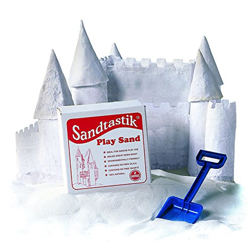 SANDTASTIK WHITE PLAY SAND 25LB BOX (Set of 3)