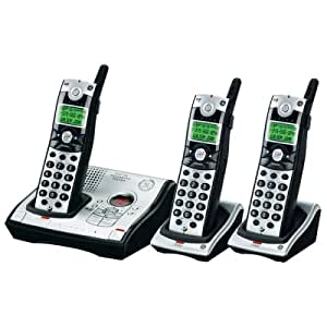 GE Cordless 5.8 GHz Digital 28031EE3 Phone with 3 Handsets, Caller ID and Digital Answering System